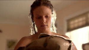 Tracy Spiridakos topless - Revolution - Sex and Drugs