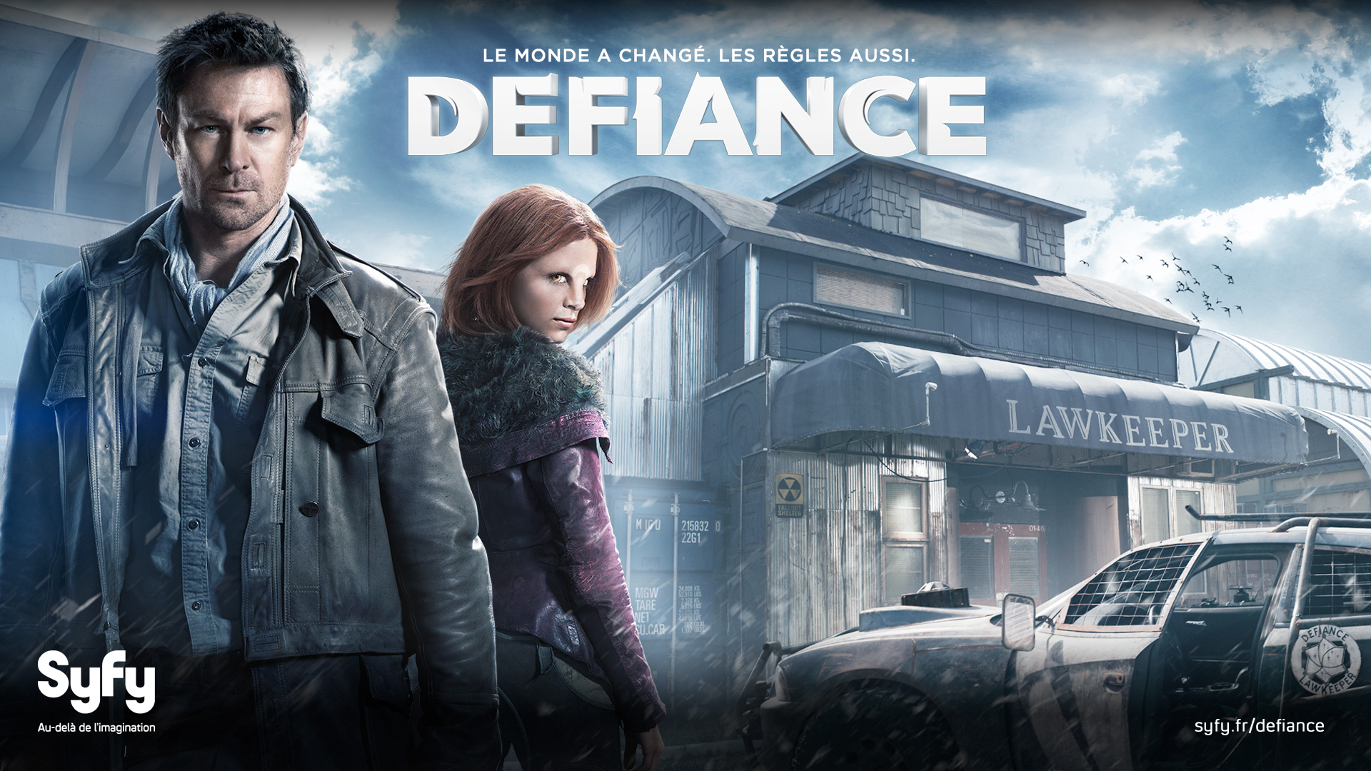 Defiance Joshua Nolan and Irisa - Defiance gets renewed for second season by Syfy!