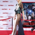 Gwyneth Paltrow in nude dress Iron Man 3 premiere