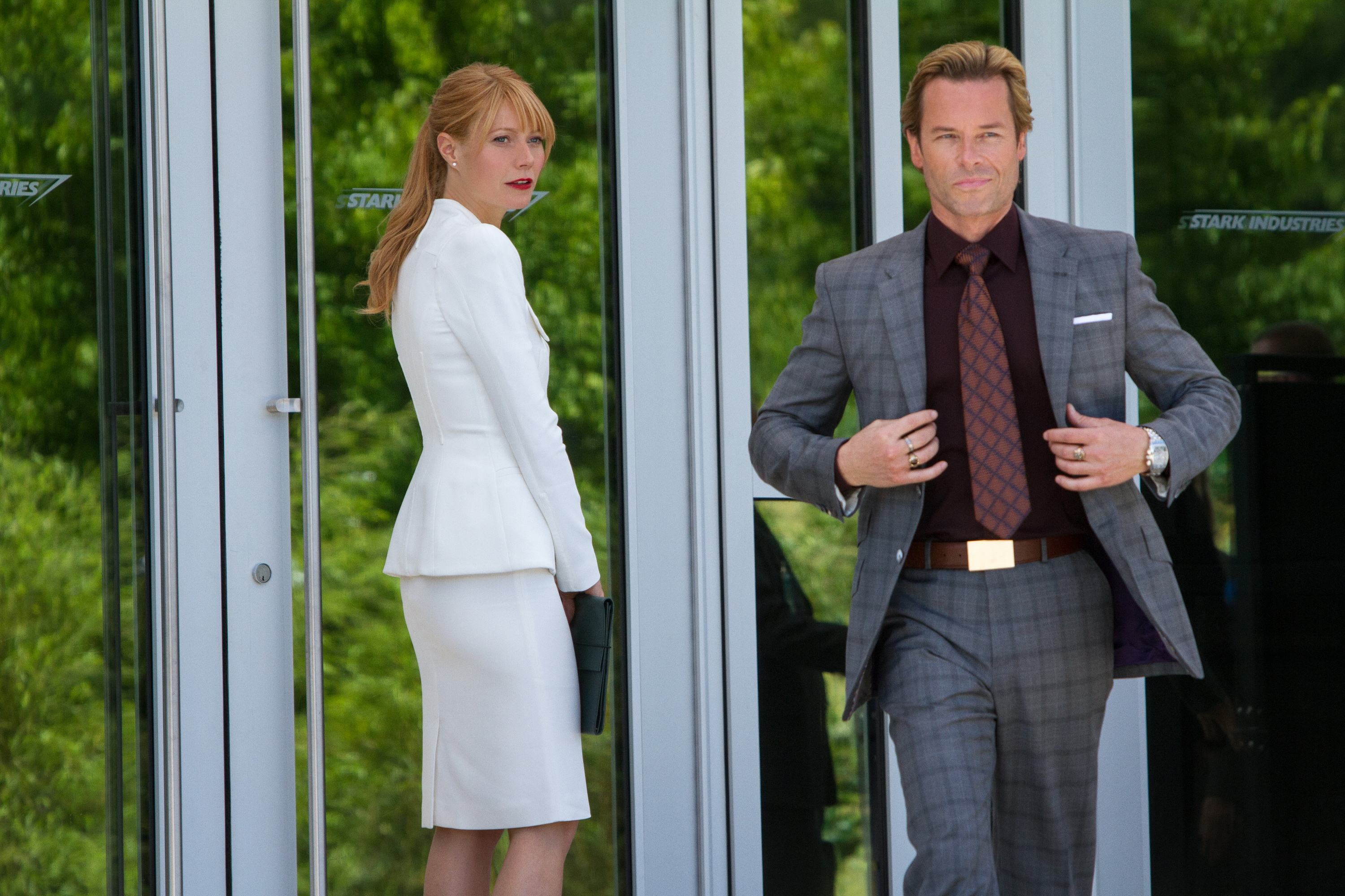 Iron Man 3 Gwyneth Paltrow as Pepper Potts and Guy Peace as Aldrich Killian