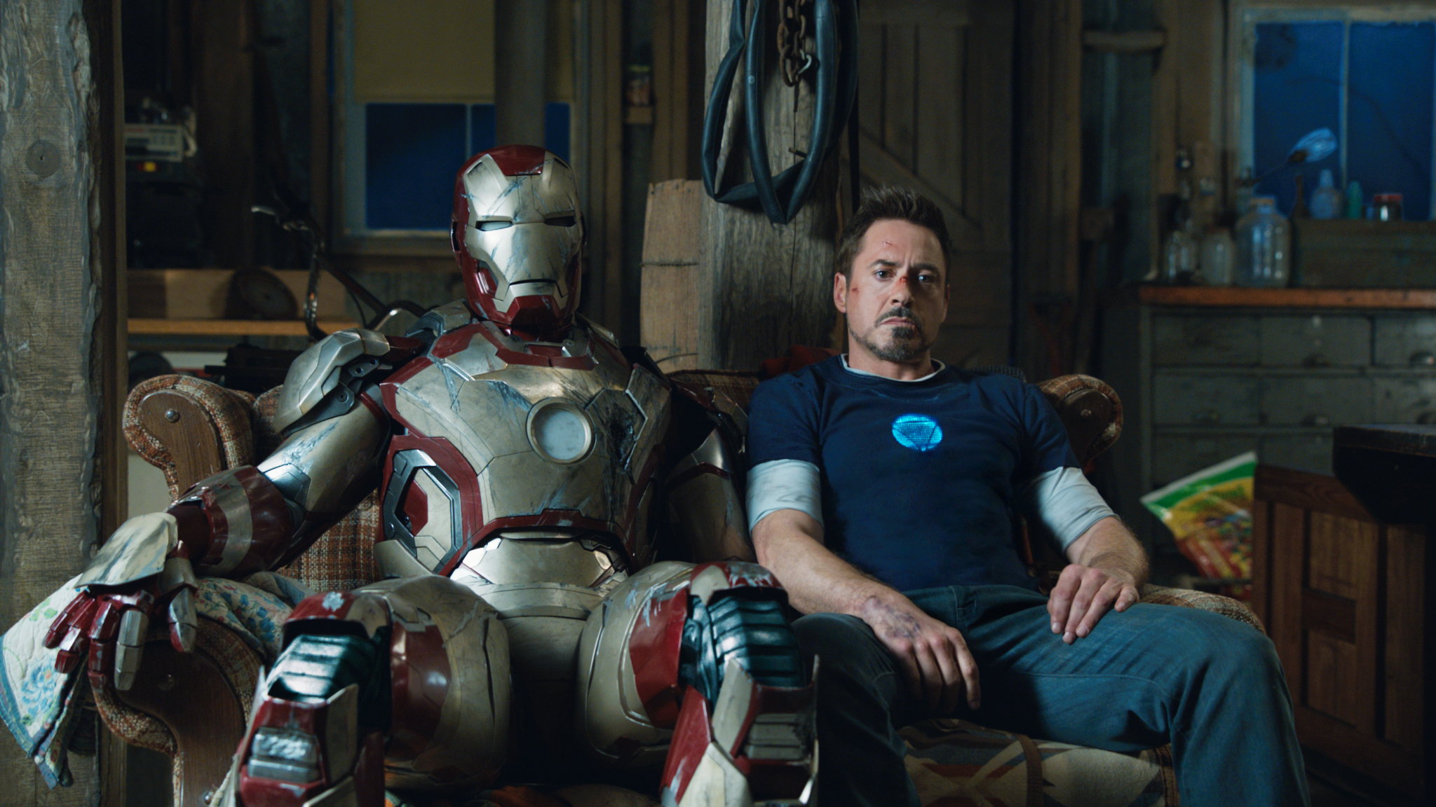 Robert Downey Jr. as Tony Stark in Iron Man 3