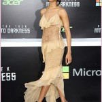 Star Trek Into Darkness premiere Zoe Saldana dress