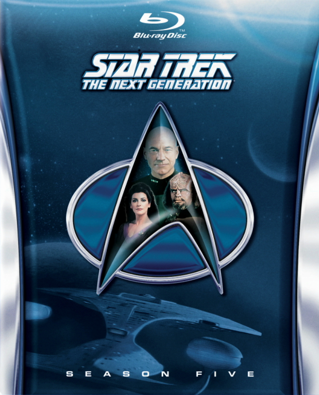 Star Trek The Next Generation Season 5 Cover Blu-ray Star Trek TNG season 5 Blu-ray cover revealed!