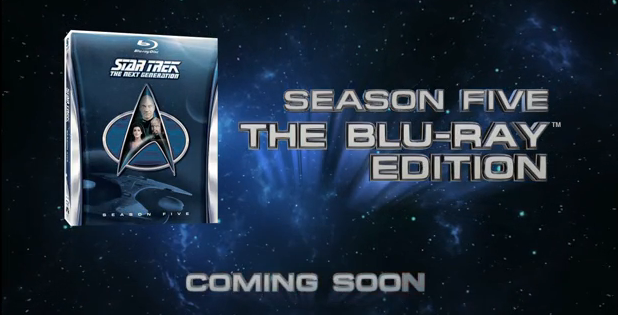 TNG season 5 blu ray banner Star Trek TNG season 5 Blu-ray cover revealed!