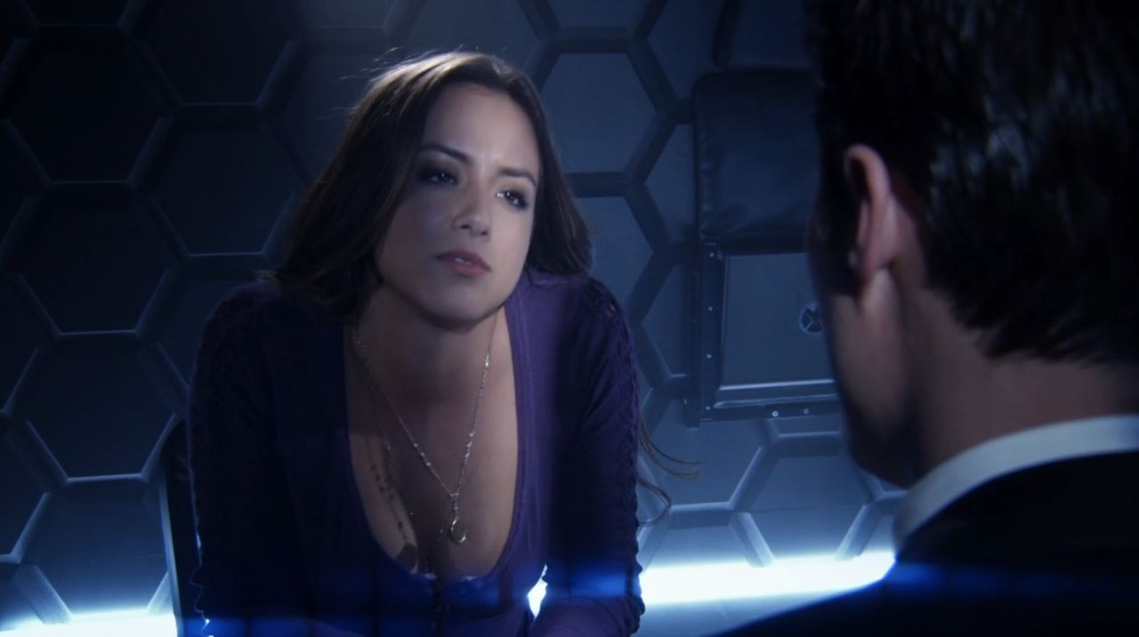 Chloe Bennet as skye showing cleavage - Agents of SHIELD