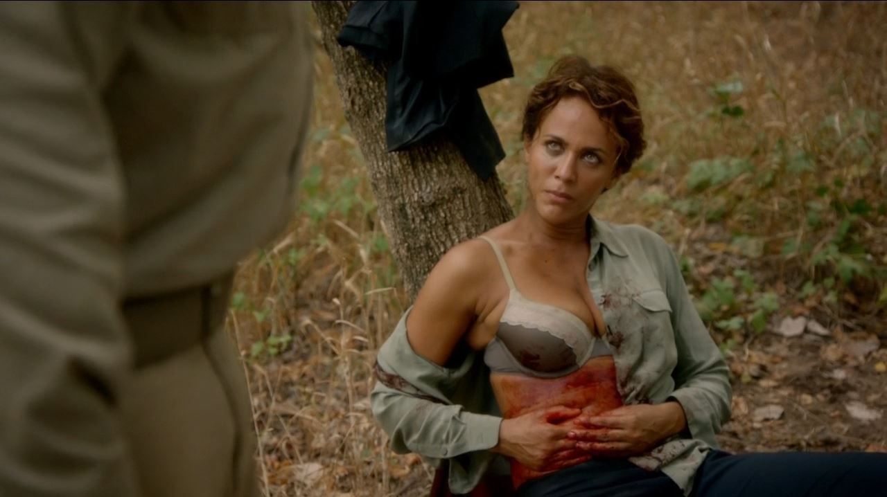 Nicole Ari Parker cleavage bra on Revolution as Justine Allenford