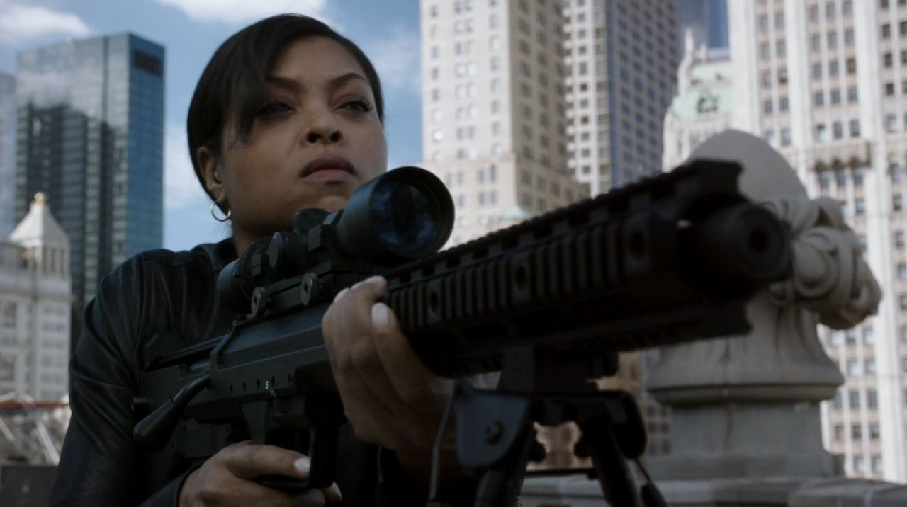 Detective Carter (Taraji P. Henson) trying to assassinate Alonzo Quinn with sniper rifle - Endgame - Person of Interest
