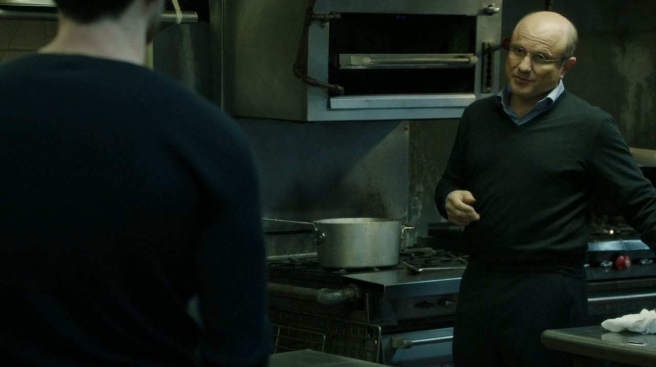 Person of Interest Endgame - Carl Elias (Enrico Colantoni) cooking for the Russian mob