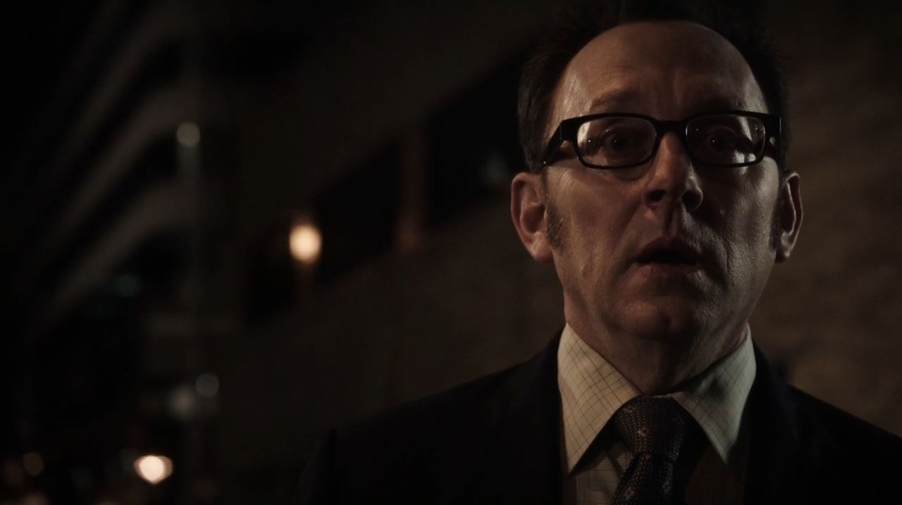 Person of Interest - Finch (Michael Emerson) shocked at Carter's death