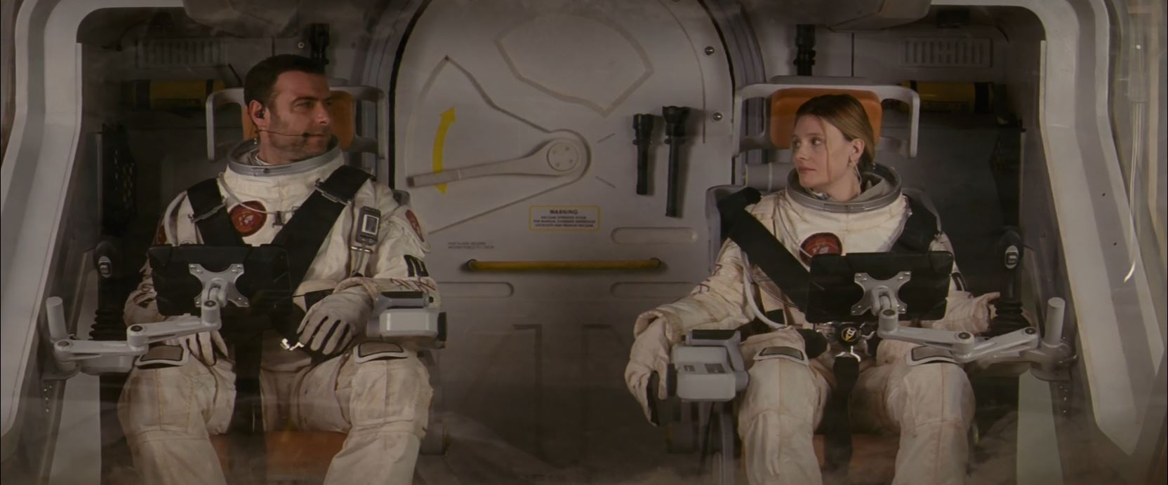 Romola Garai and Liev Schreiber in The Last Days On Mars