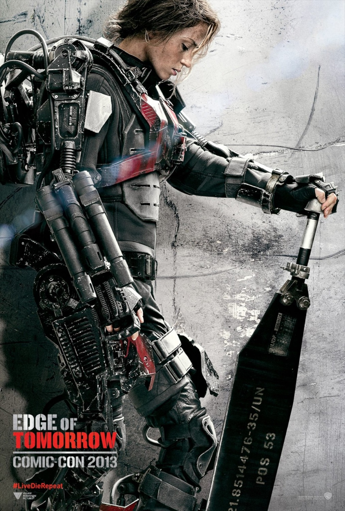 Edge of Tomorrow poster - Emily Blunt as Rita Vrataski
