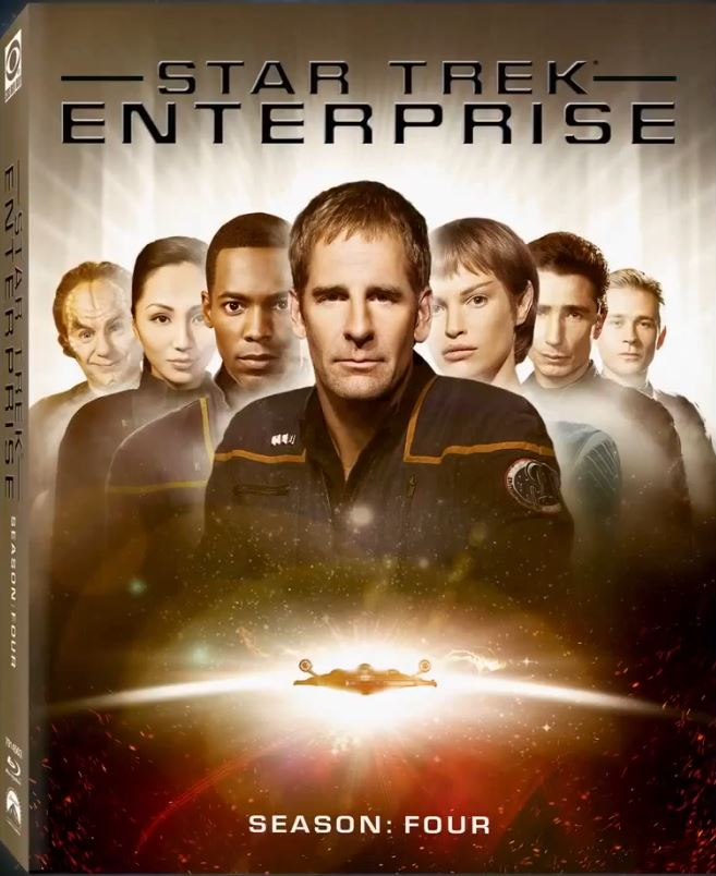 Enterprise Season 4 Blu-ray cover - Scott Bakula and Jolene Blalock - Enterprise Season 4 Blu-ray Preview and Trailer!
