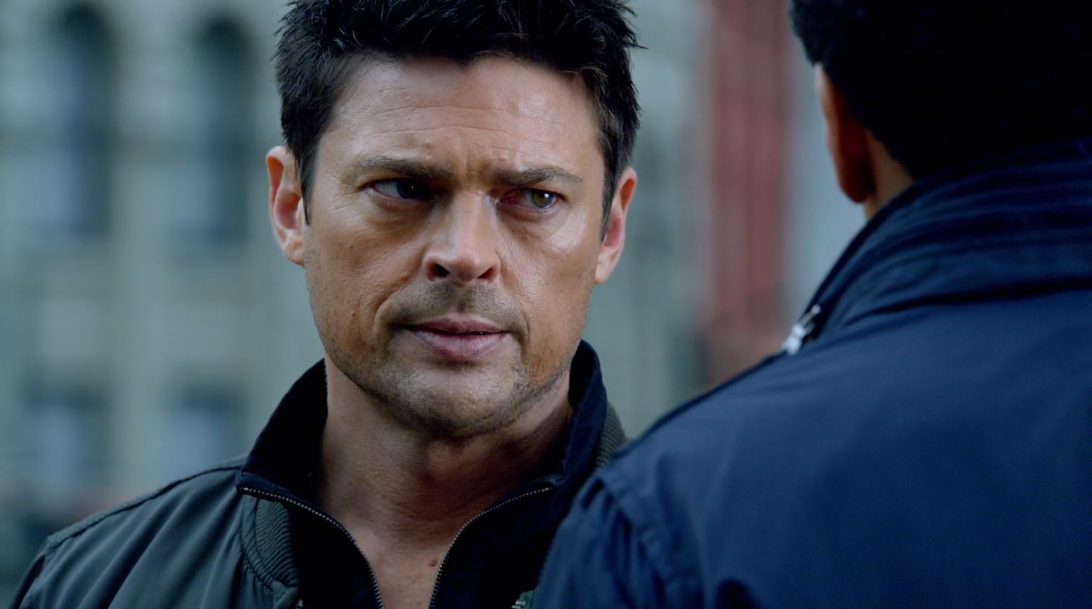 Displaying 20 gt  Images For - Karl Urban Almost Human Gun   Karl Urban Almost Human Gun