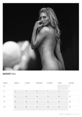 Katee Sackhoff nude rear acting outlaws 2014 calendar