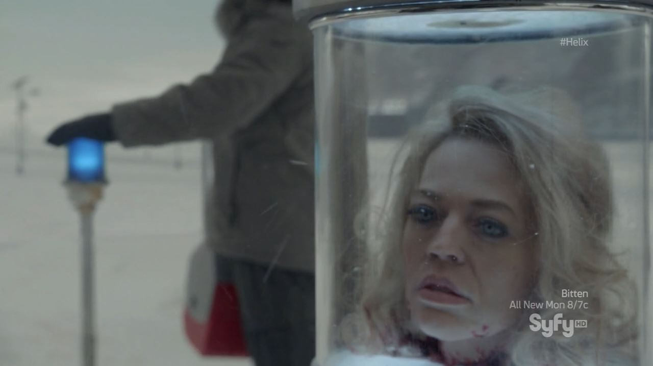 Helix - Bloodline - Constance Sutton's (Jeri Ryan) decapitated head