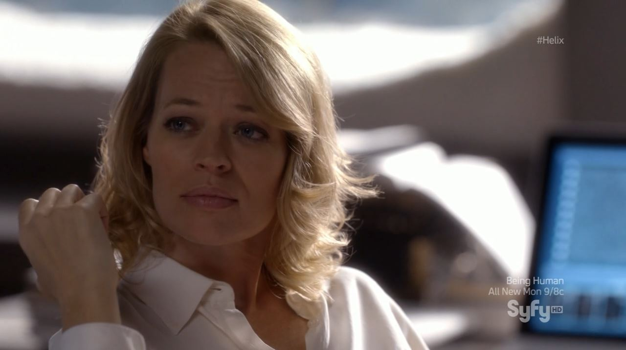 Helix - Bloodline - Jeri Ryan as Constance Sutton giving orders to her forces