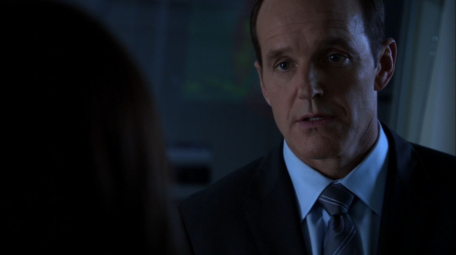 Agents of S.H.I.E.L.D S1Ep15 'Yes Men' - Clark Gregg as Coulson conspires with Skye