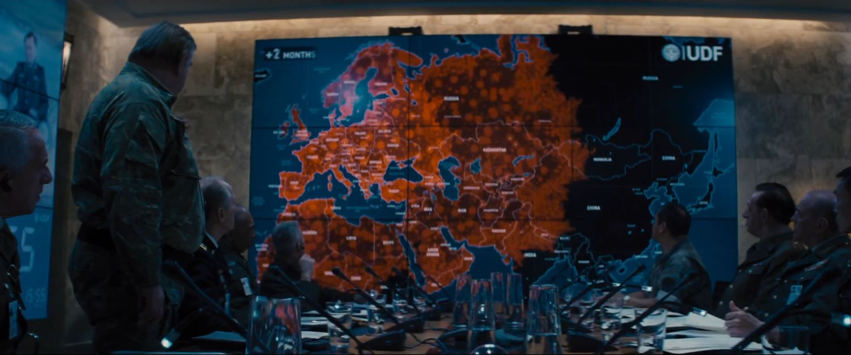 Edge of Tomorrow - Aliens conquer the world map