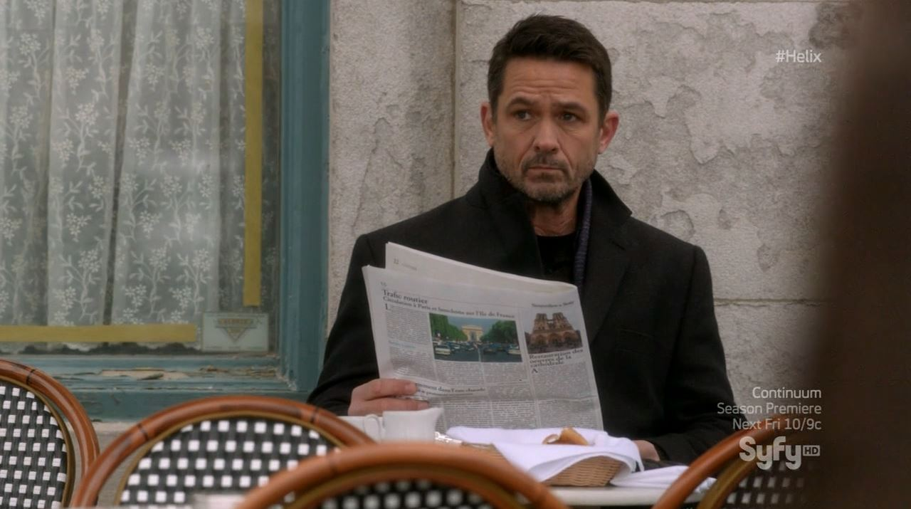 Helix season 1 finale - Billy Campbell as Dr. Alan Farragut in Paris
