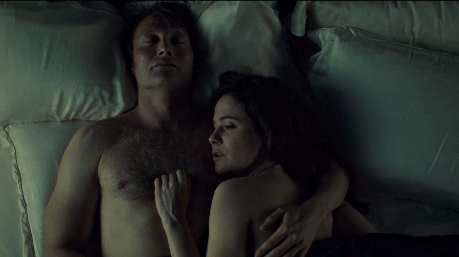 Hannibal Season 2 Episode 8 Su-zakana - Hannibal and Bloom in bed