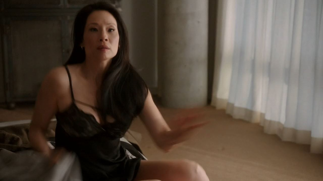 Elementary Season 2 The Grand Experiment Review - Watson (Lucy Lui) in lingerie after having sex with Mycroft