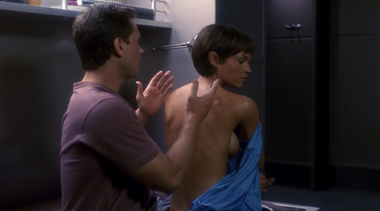 Jolene Blalock topless side boob Enterprise -T'Pol nude