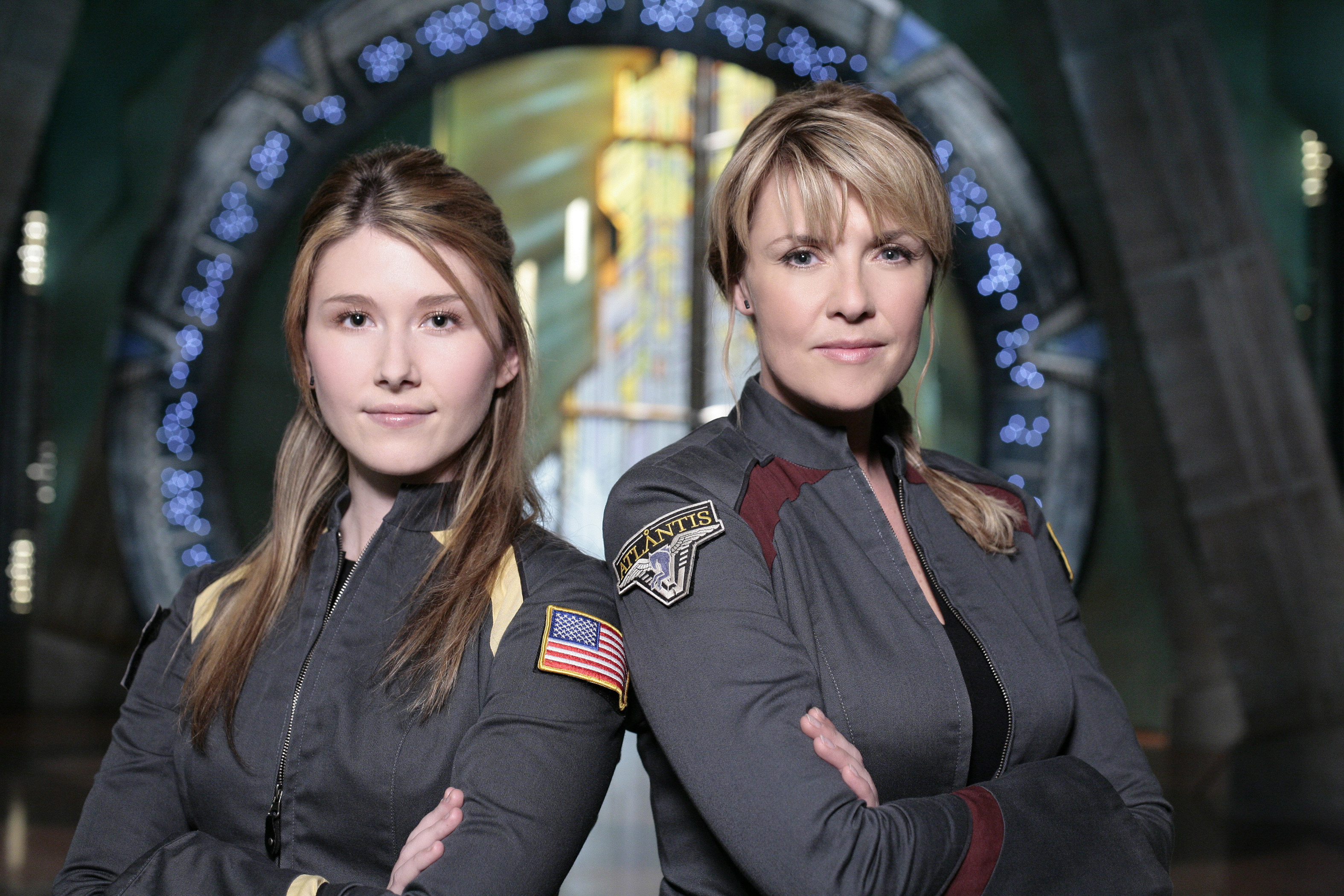 Stargate Atlantis Jewel Staite and Amanda Tapping hot