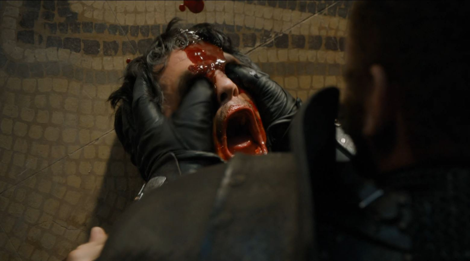 Game of Thrones 'The Mountain and The Viper' Review http://scifiempire.net Game Of Thrones - Mountain gorges out the eyes of Oberyn (Pedro Pascal)