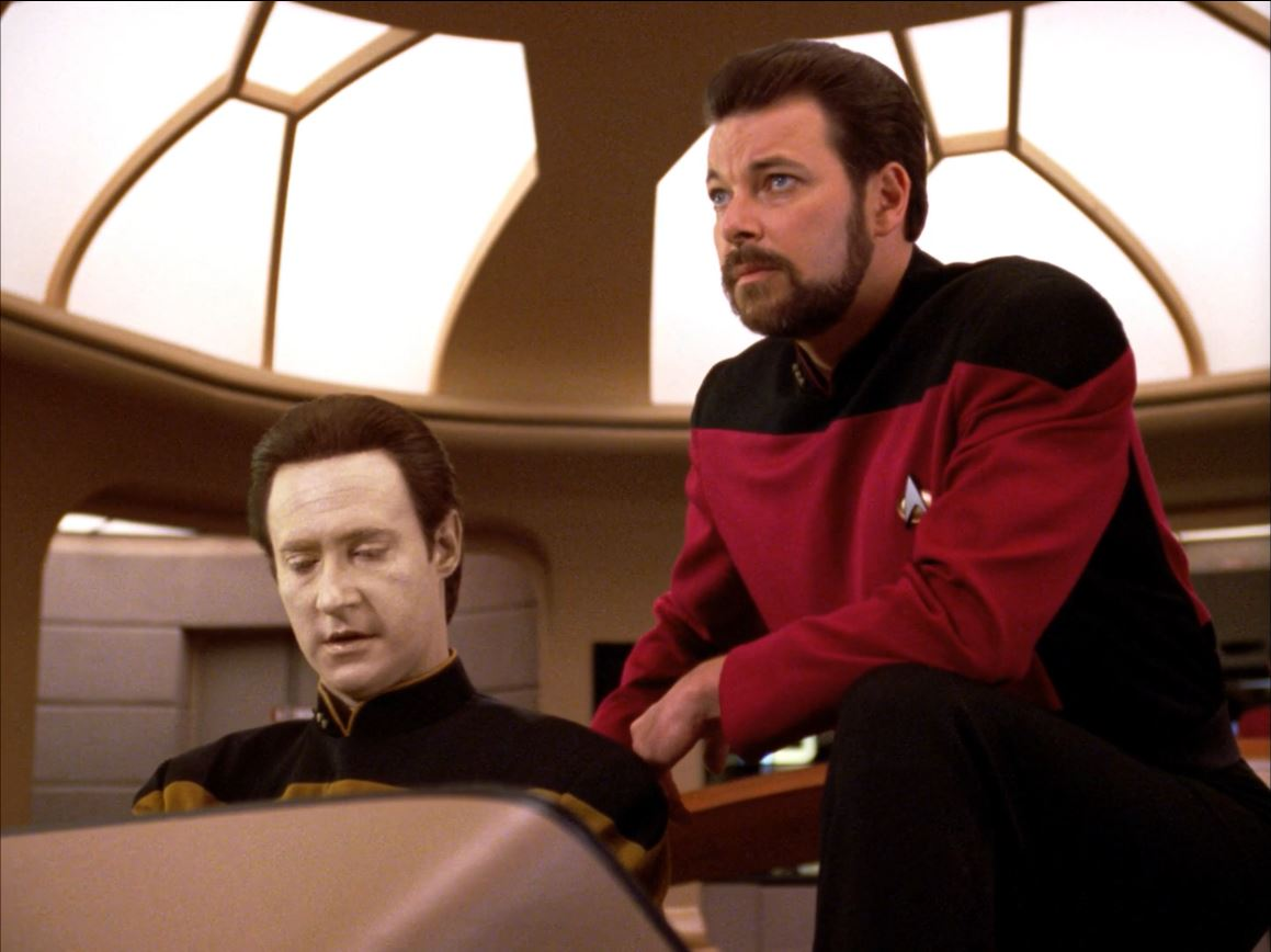 Star Trek The Next Generation Season 6 Blu-ray Review - Riker and Data