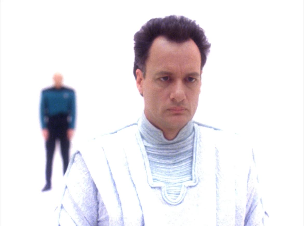 Star Trek The Next Generation Season 6 Blu-ray Review - Tapestry - John de Lancie as Q