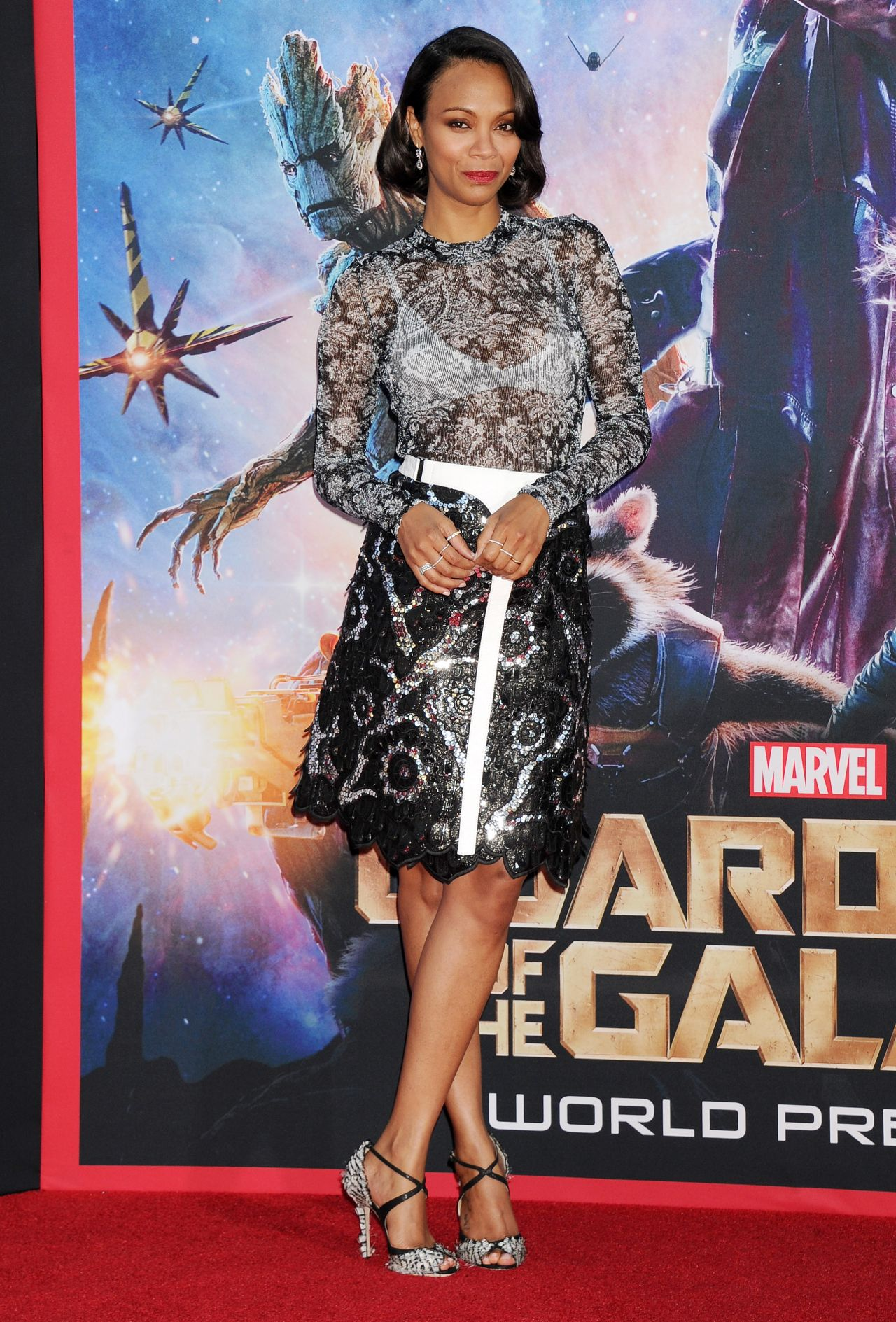 Zoe Saldana at Guardians of the Galaxy premiere www.scifiempire.net