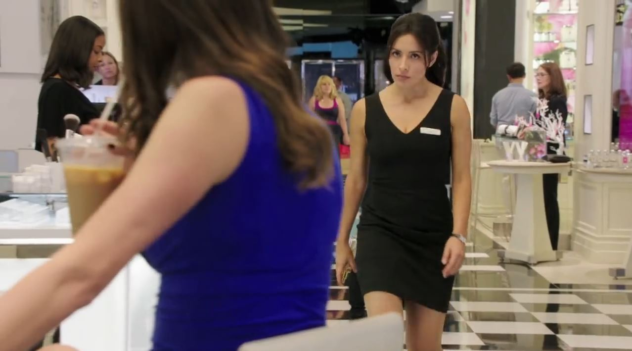 Person of Interest Season 4 Preview - Sameen Shaw (Sarah Shahi) in short black dress