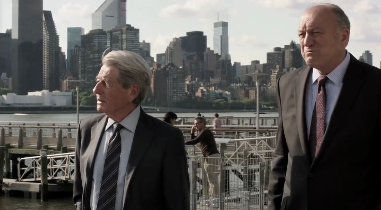 Person of Interest Season 4 Preview - Senator Ross Garrison (John Doman) and John Greer (John Nolan)