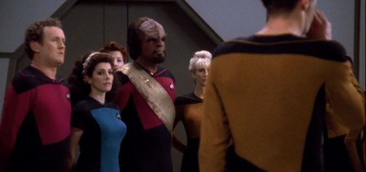 Marina Sirtis miniskirt Star Trek