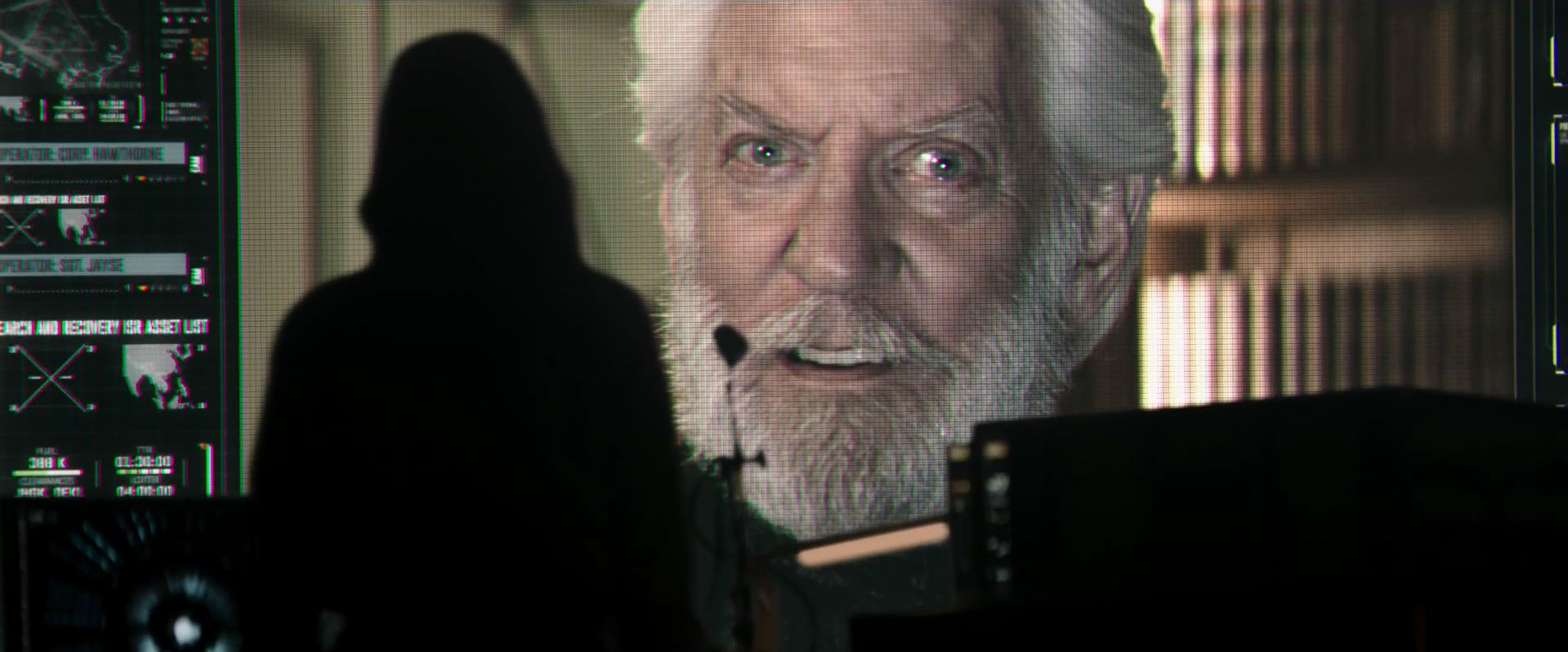 The Hunger Games Mockingjay Part 1 Trailer - Donald Sutherland as President Coriolanus Snow