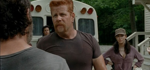 Abraham leaving with Eugene and Glenn - The Walking Dead S5Ep3 Four Walls and a Roof Review