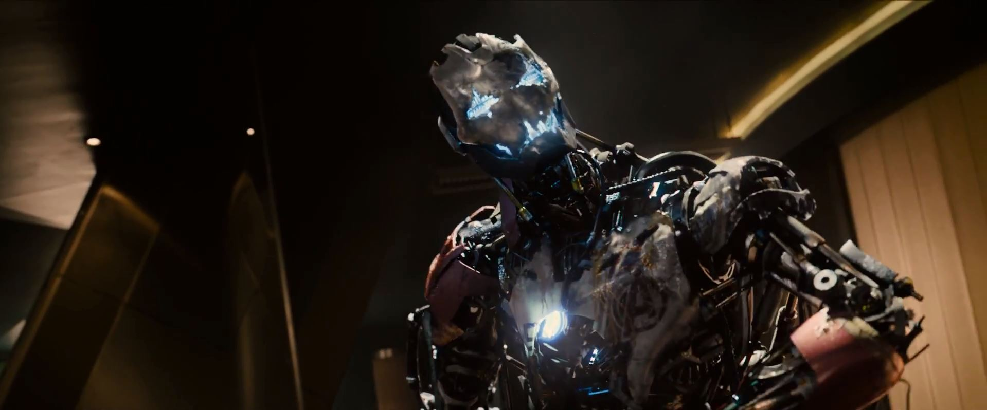 Avengers Age Of Ultron Trailer Released - A weakened Ultron (James Spader)