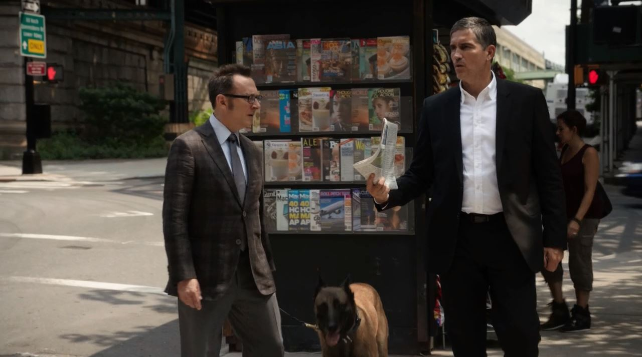 Reese and Finch celebrating - Person Of Interest S2Ep2 Nautilus Review