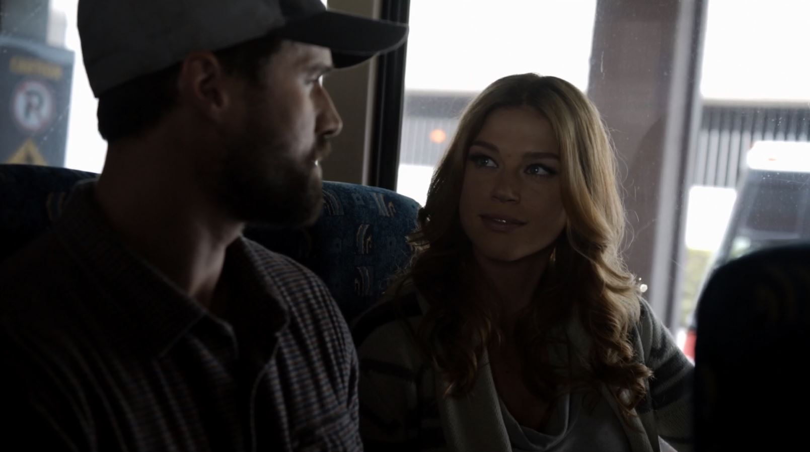 Adrianne Palicki as Bobbi Morse Mockingbird talking to Grant Ward - Agents of SHIELD The Writing on the Wall Review