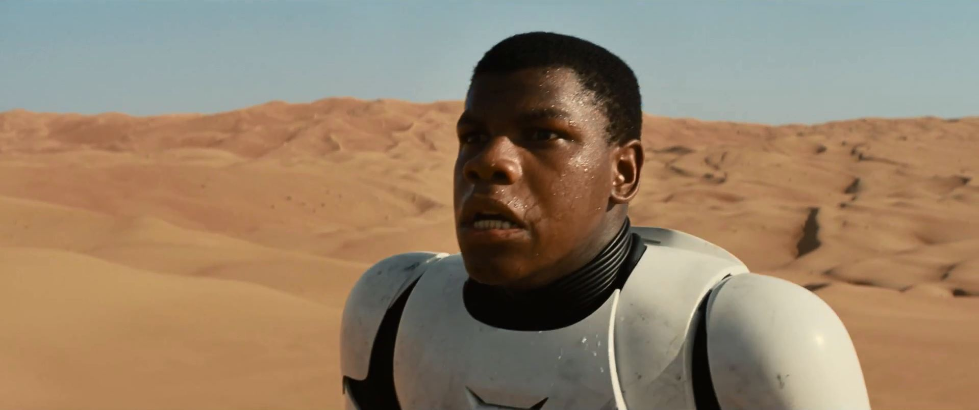 John Boyega in stormtrooper armour - Star Wars Episode 7 trailer released