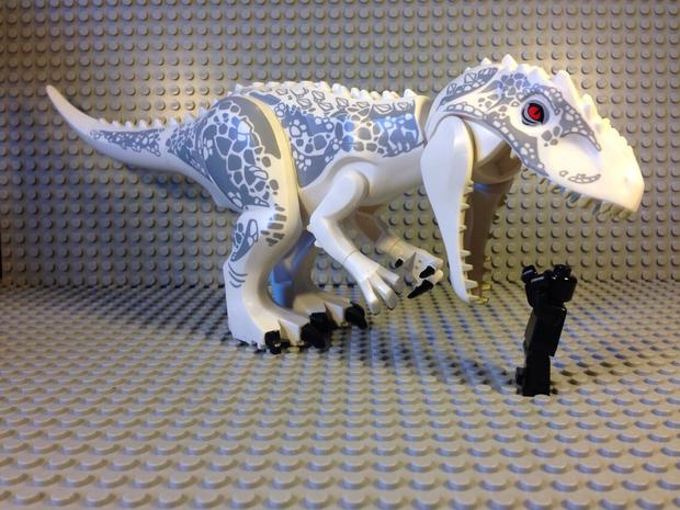 Jurassic World Lego d-rex Jurassic World opens website with countdown clock and photos
