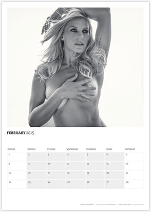 Acting Outlaws 2015 Calendar - Katee Sackhoff covering her chest February