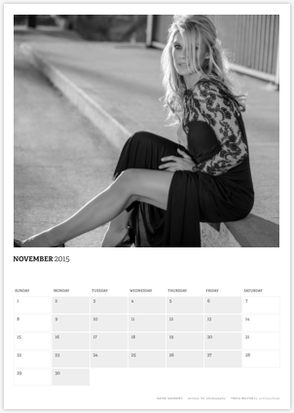 Acting Outlaws 2015 Calendar - Katee Sackhoff in long slit dress