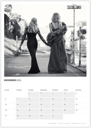 Acting Outlaws 2015 Calendar - Katee and Tricia walking away