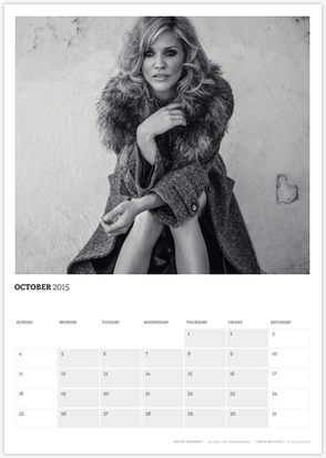 Acting Outlaws 2015 Calendar - Tricia Helfer in fur coat