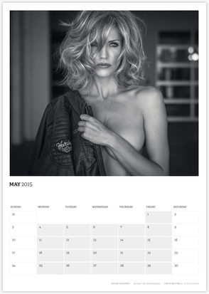 Acting Outlaws 2015 Calendar - Tricia Helfer topless May