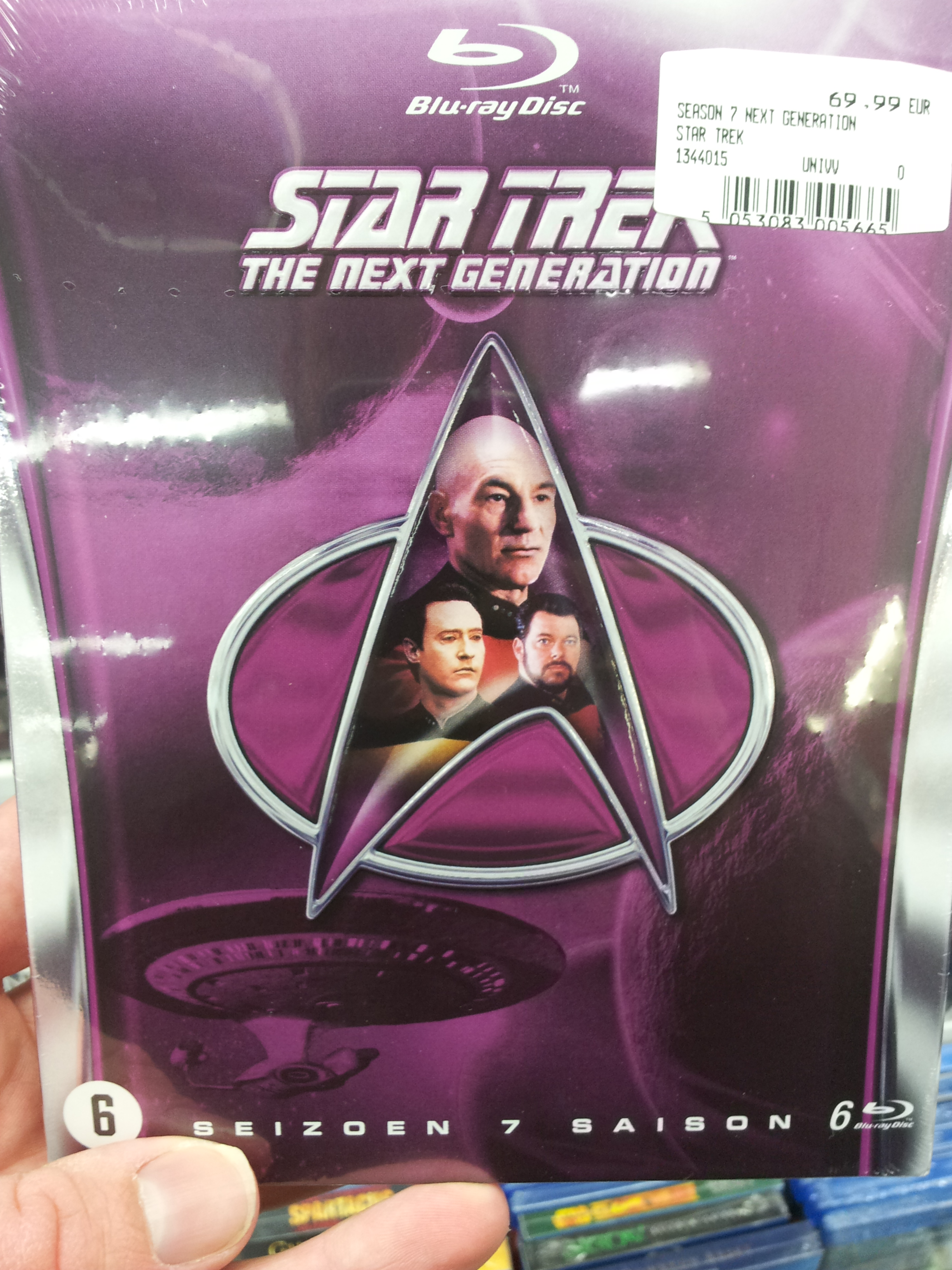 Star Trek TNG Season 7 Blu Ray cover of boxset