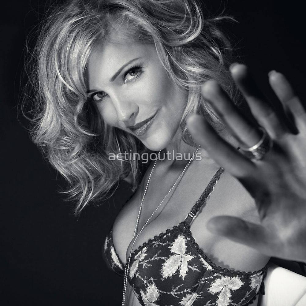 Tricia Helfer sexy in 2015 Acting Outlaws Calendar