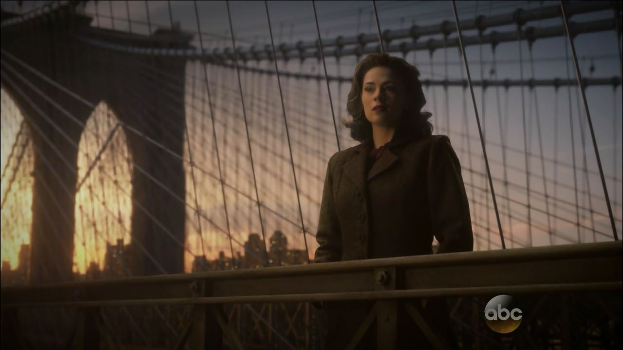 Agent Carter season finale review. Peggy (Hayley Atwell) saying goodbye to Captain America