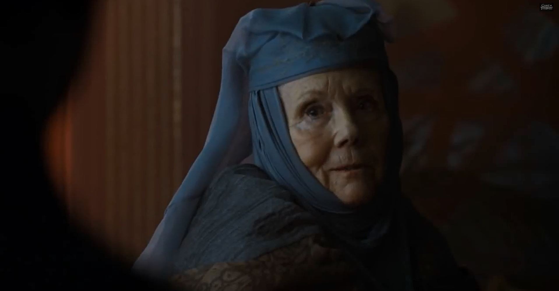 Game Of Thrones Season 5 Preview. Diana Rigg as Lady Olenna Tyrell